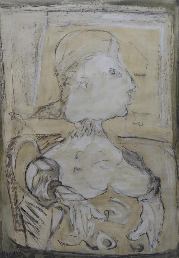 Sans titre Non daté technique mixte/papier 107 x 74 cm
