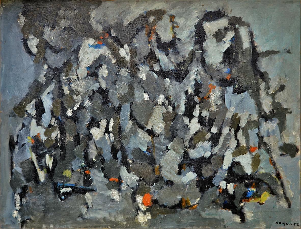 Sans titre 1958 huile/toile 88 x 115 cm