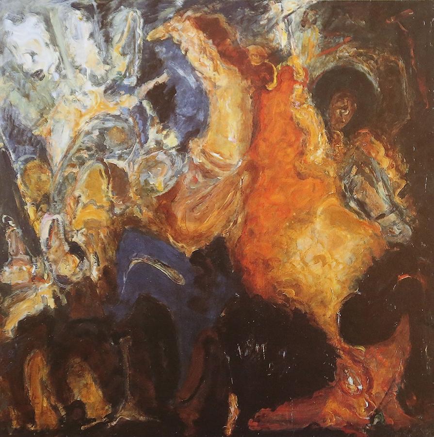 La chasse au Snark 1990 huile/toile 100 x 100 cm
