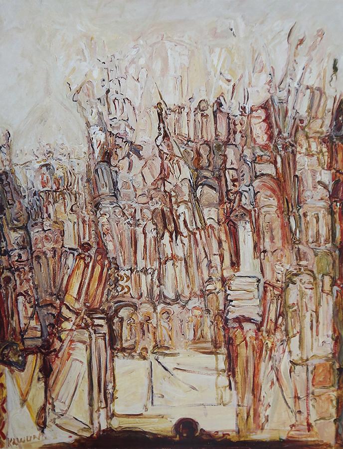 Sainte Savine 1991 huile/toile 146 x 114 cm