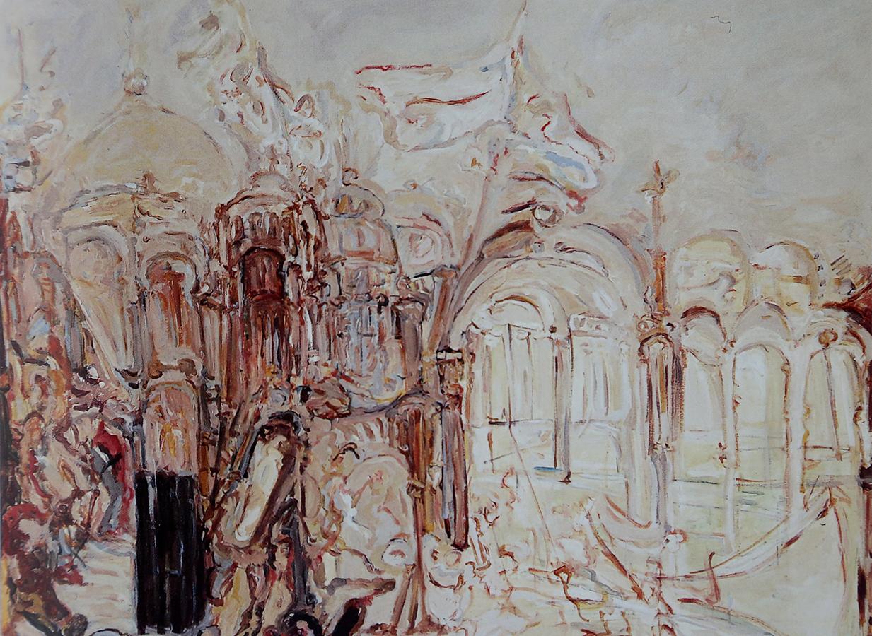Une certaine Venise 1991 huile/toile 114 x 146 cm