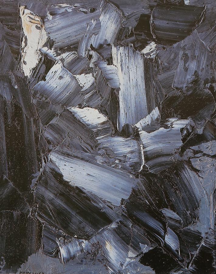 Auvergne - la Cascade 1963 huile/toile 93 x 73 cm