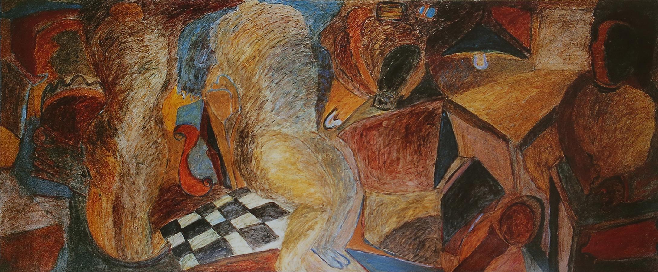 Odalisque 1973 huile/papier marouflé sur toile 170 x 410 cm