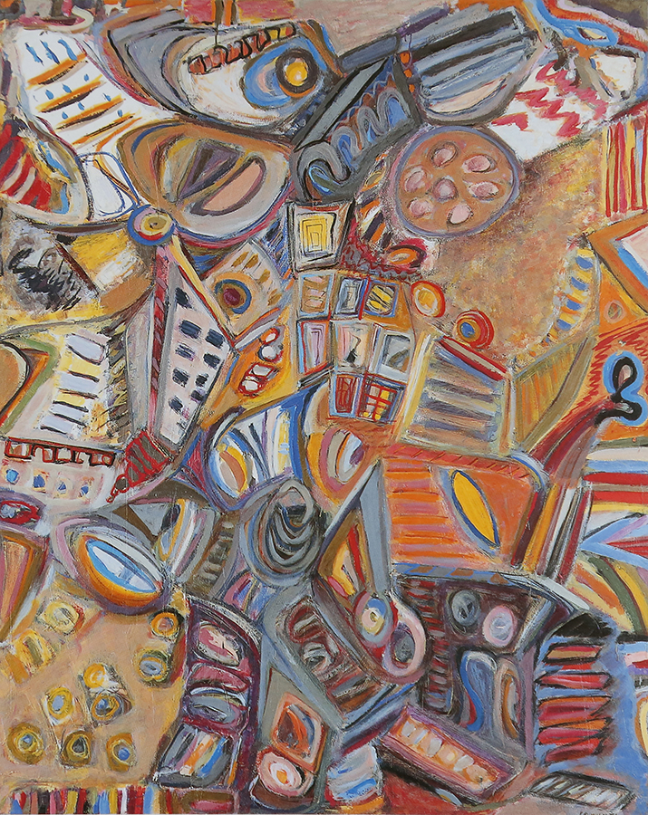 Onomatopées 1971 huile / toile 162 x 130 cm