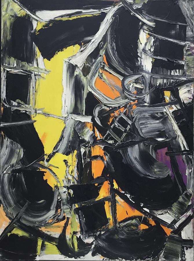 Onomatopées 1965 huile/toile 130 x 97 cm