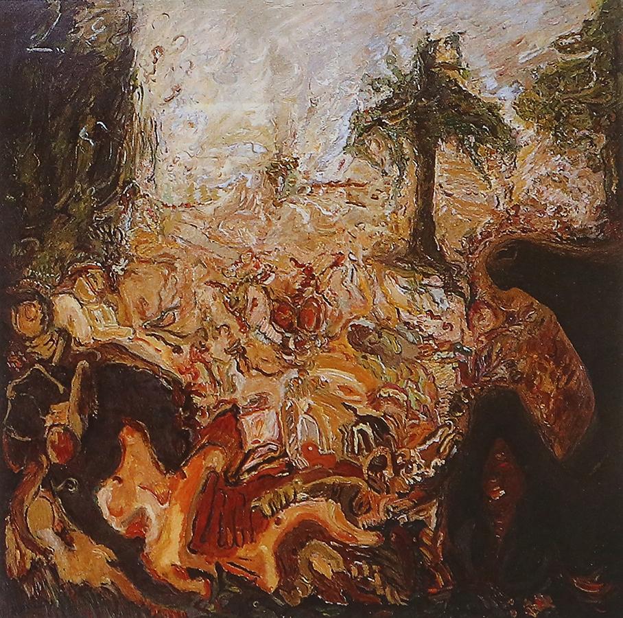 Conte Ukrainien 1992 huile/toile 150 x 150 cm