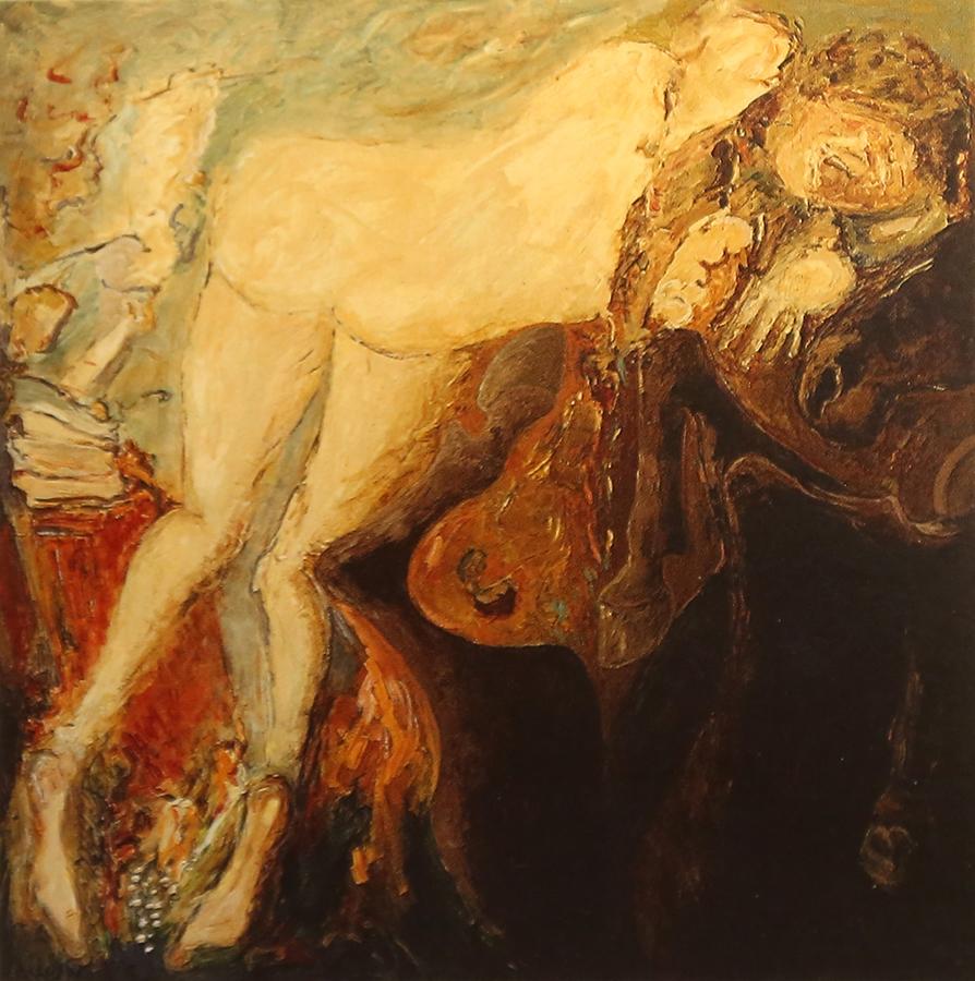 Conte Ukrainien 1993 huile/toile 150 x 150 cm
