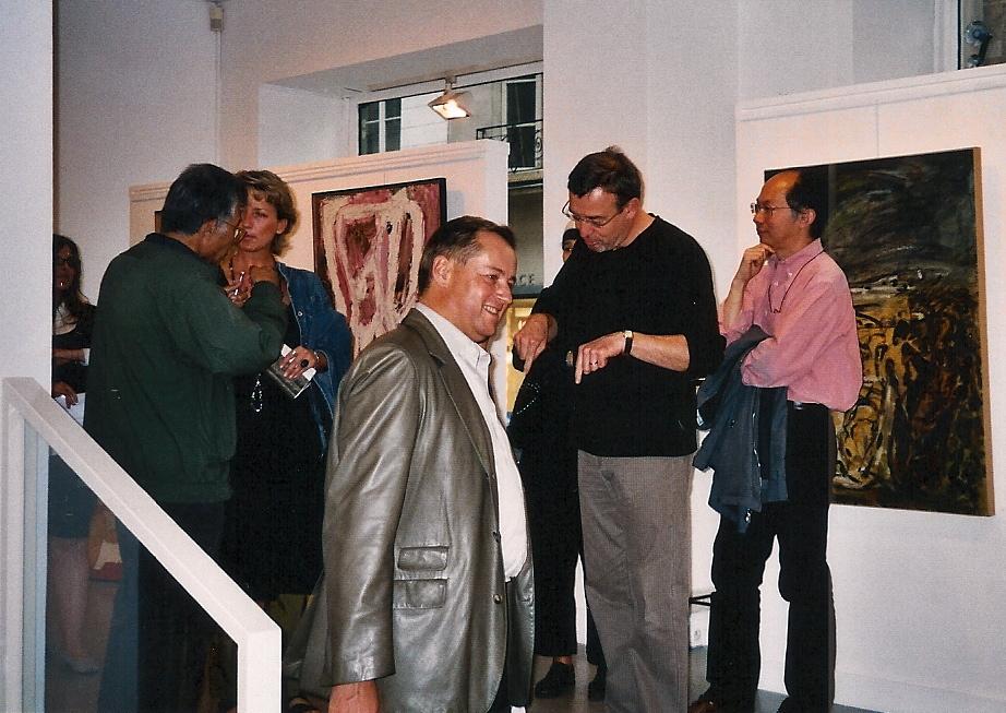 (au centre, en 1er plan) Frédéric Guislain et (en 2ème plan) Gil Griffoux