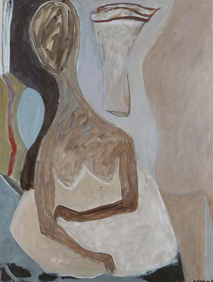 Histoire de Dame 1976 huile/toile 146 x 114 cm