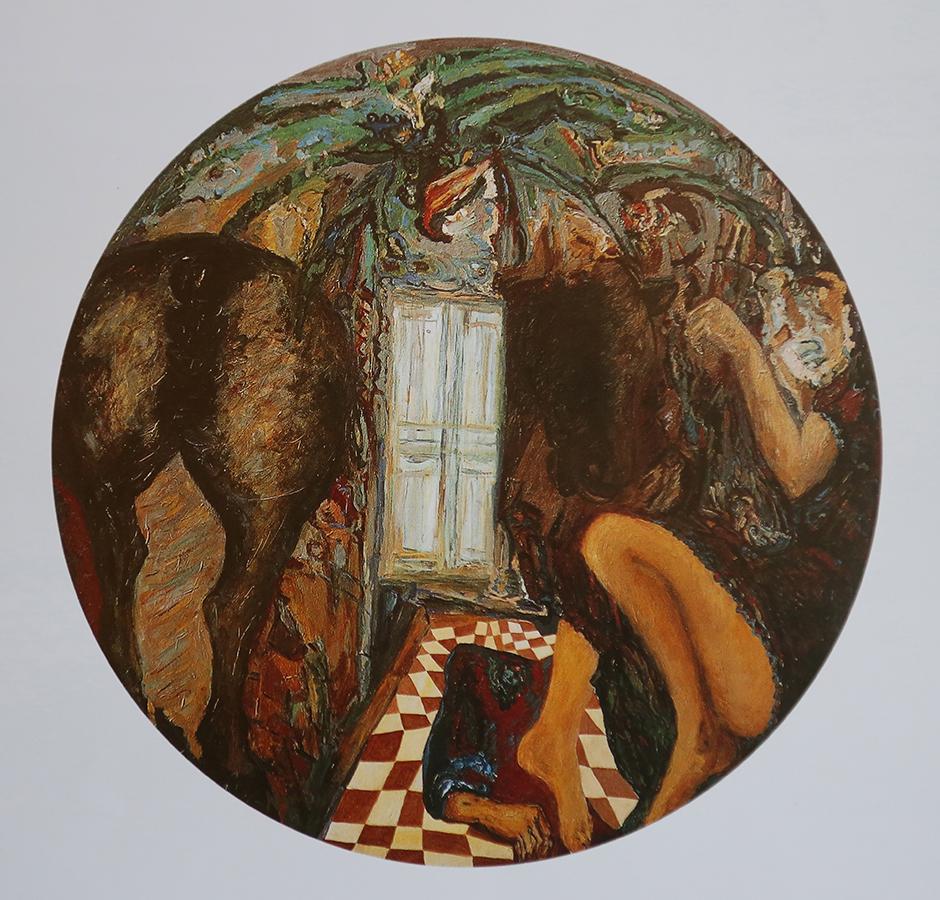 Sans titre 1996 huile/toile 150 cm de diamètre