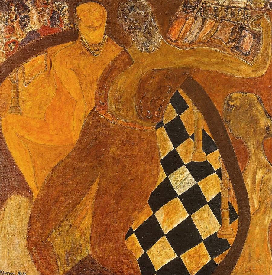 Le Grand Russe huile/toile 1982 200 x 200 cm