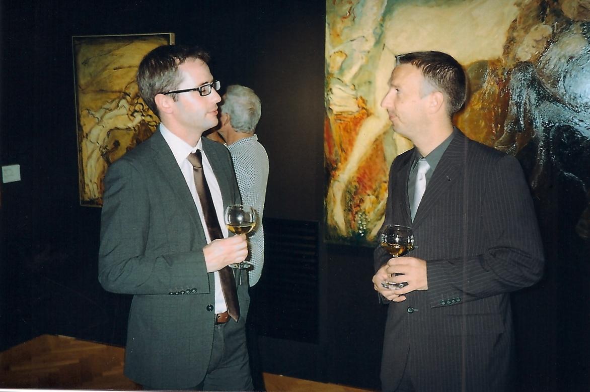 (à gauche) Franck Burlot