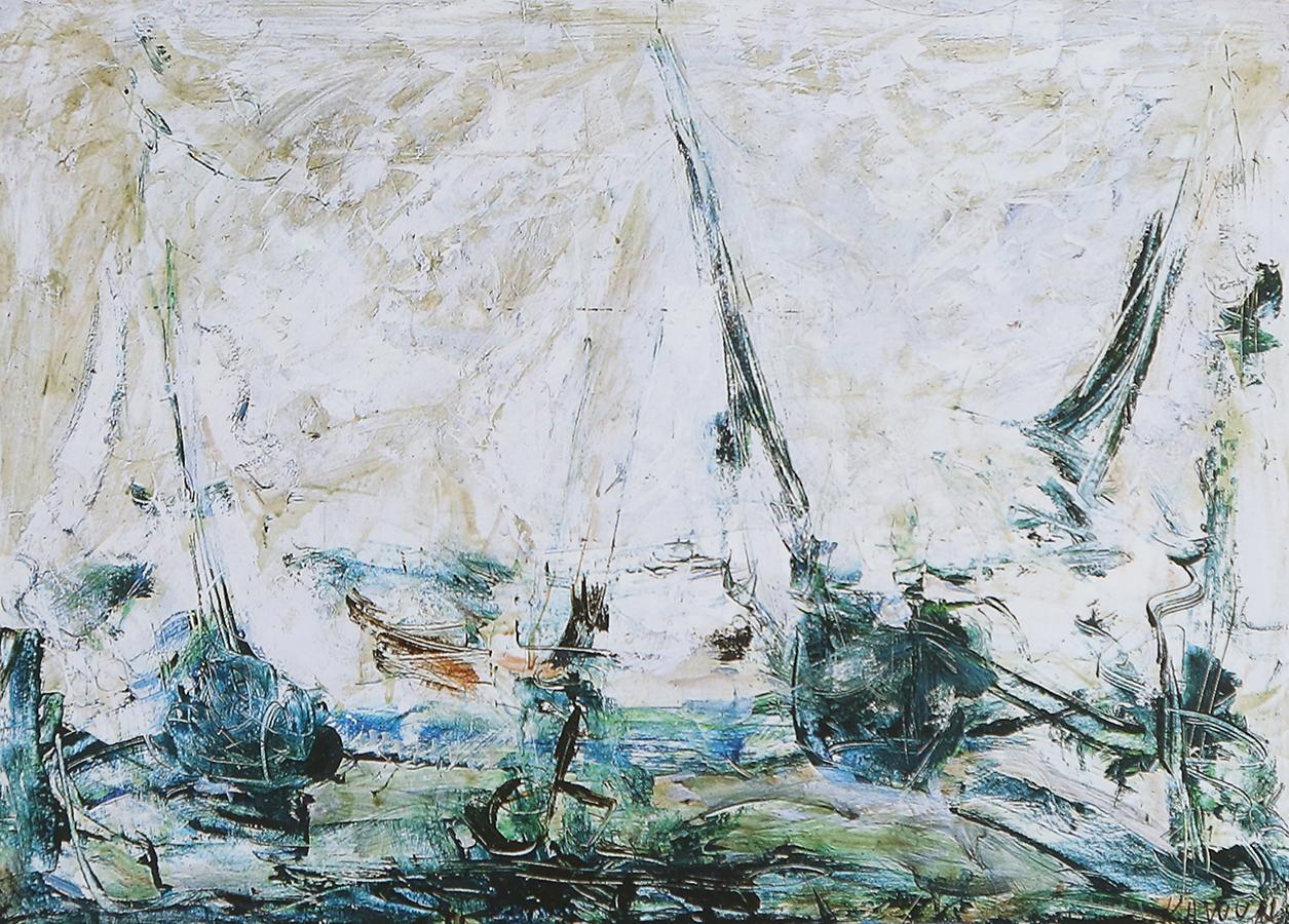 Sans titre (série Bretagne) 1994 huile/papier 51 x 34 cm