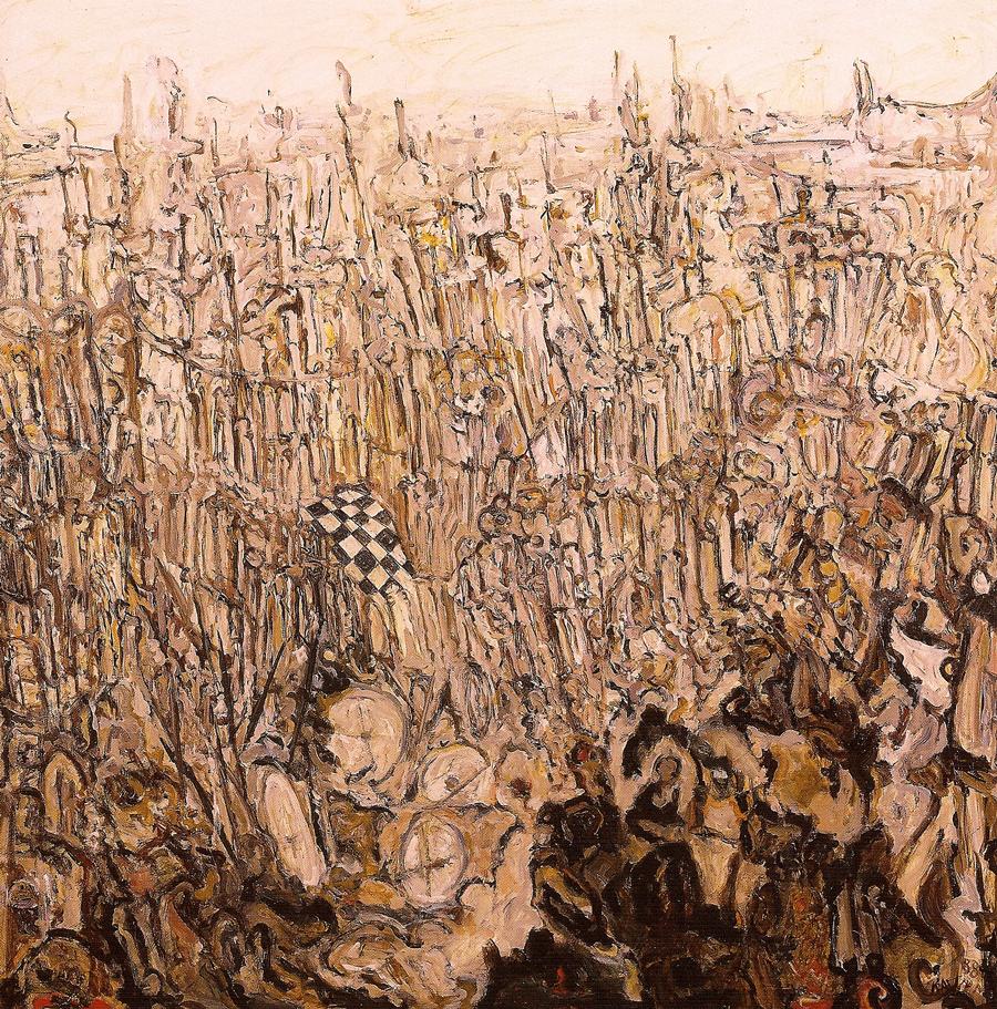 Une certaine Venise huile/toile 1988 200 x 200 cm