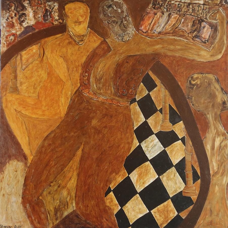 Le Grand Russe 1982 huile/toile 200 x 200 cm