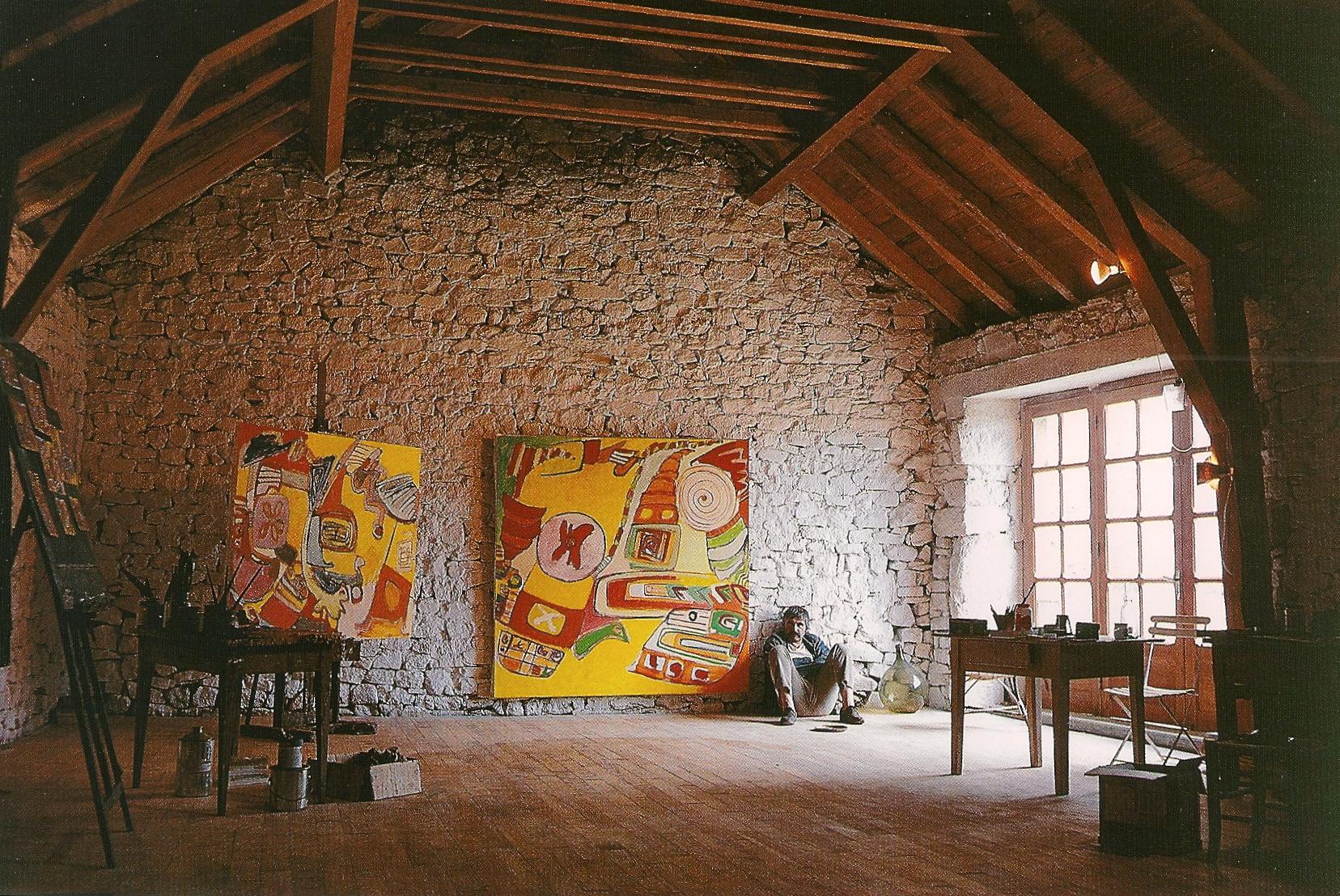 De l'atelier en mars 1968, avec Kawun...