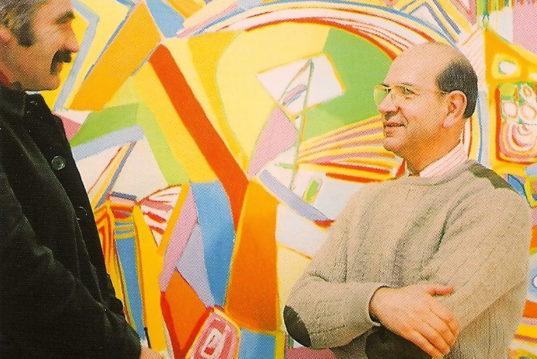 ....aux cimaises de la Galerie La Roue en novembre 1968, avec Guy Resse