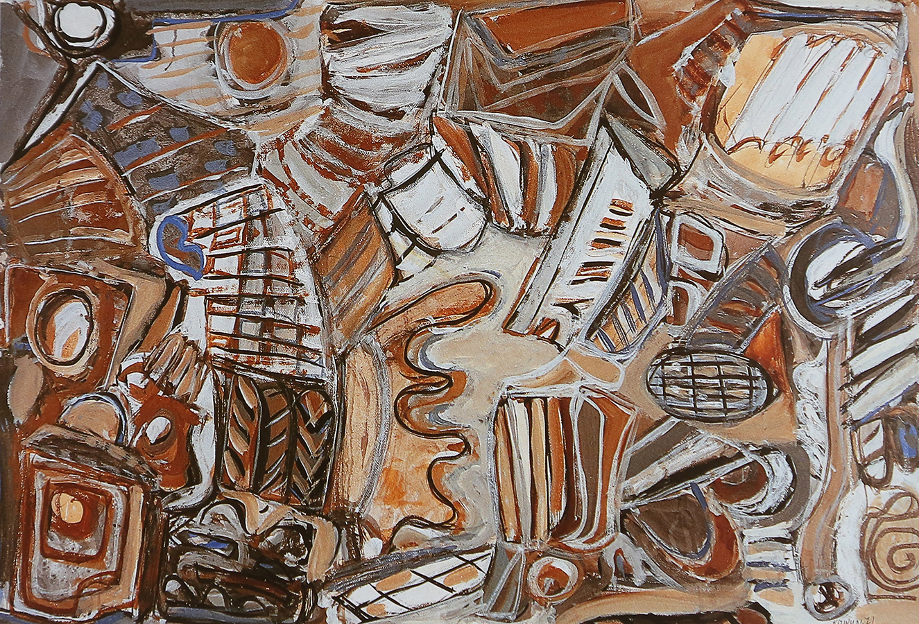 Sans titre 1971 gouache/papier 75 x 108 cm