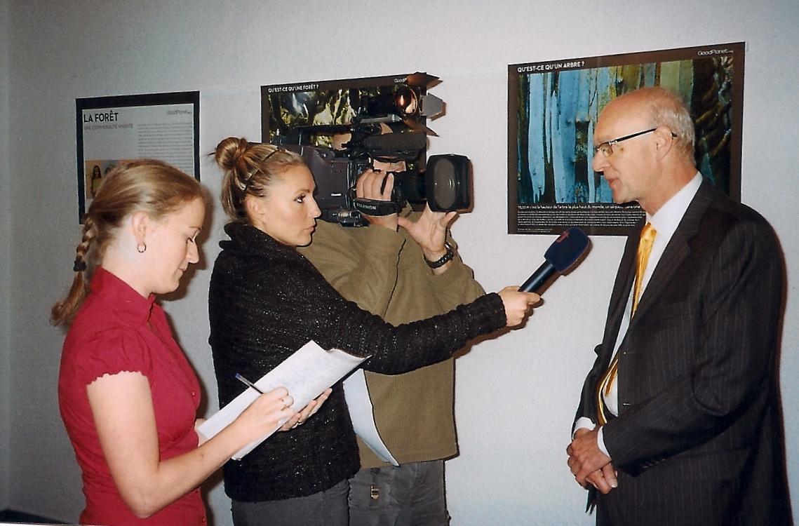 Claude Haaser interrogé par la télévision nationale tchèque