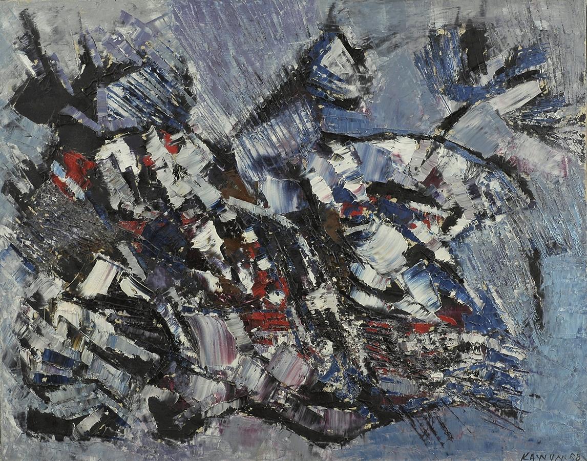 Sans titre 1958 huile/toile 72 x 92 cm