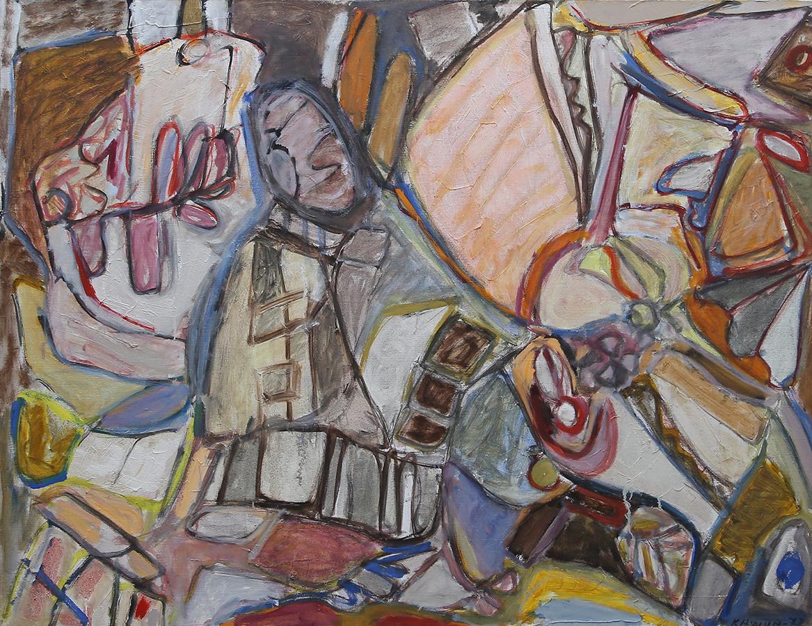 Sans titre 1972 huile/toile 88 x 116 cm