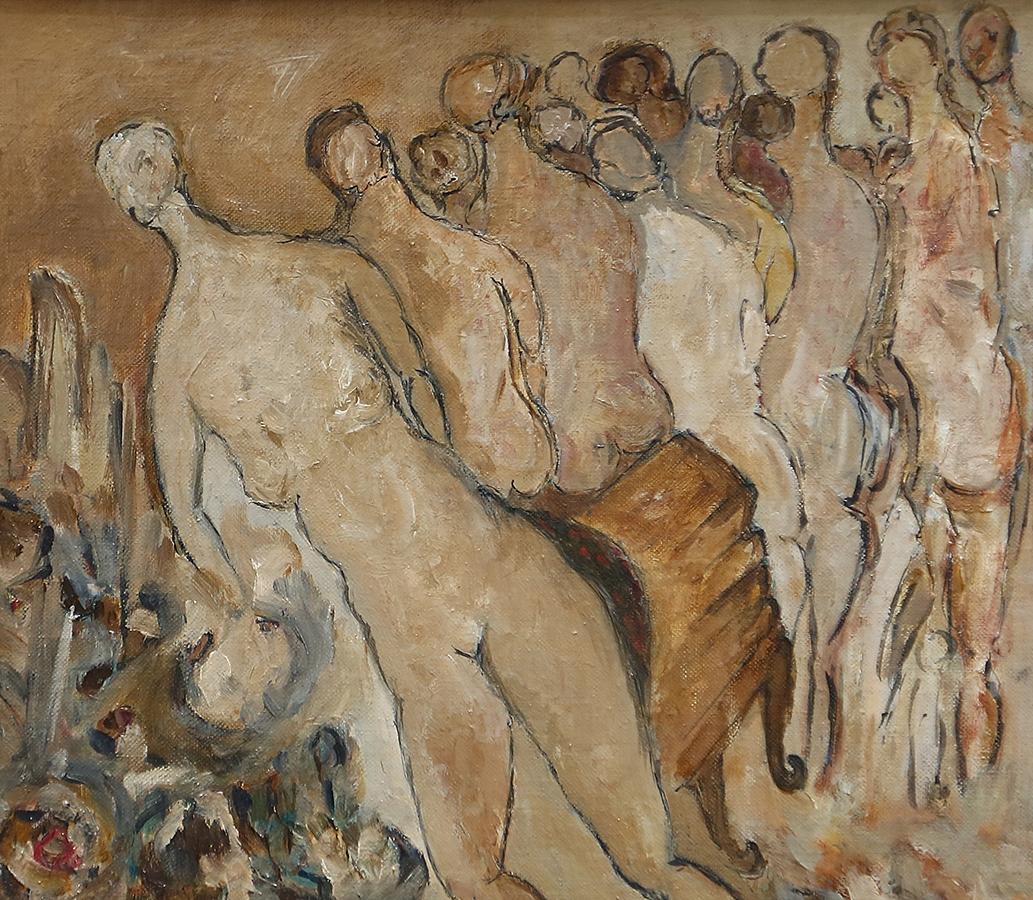Sans titre 1984 huile/ toile marouflée sur bois 29 x 33 cm