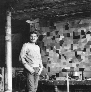 KAWUN dans l'atelier rue Montsouris -1951-