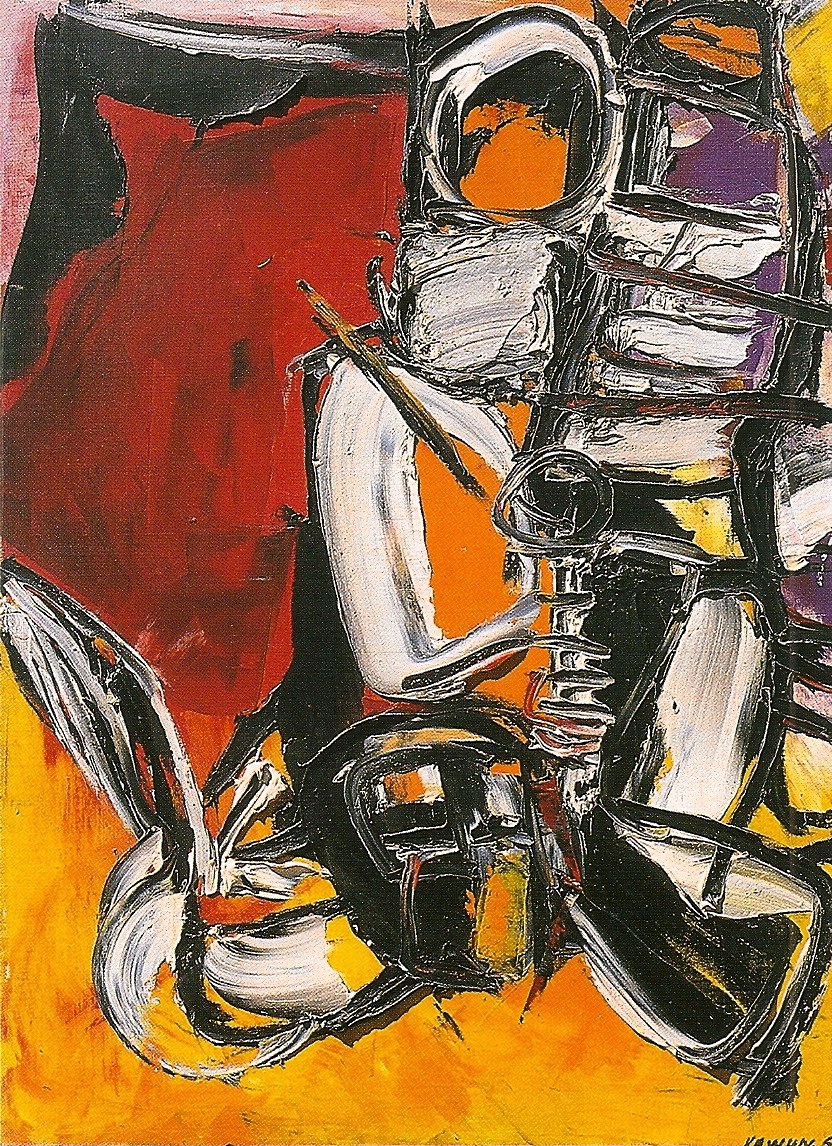 Onomatopées huile/toile 1965 130 x 97 cm